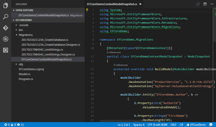 The Model Snapshot In Entity Framework Core | Learn Entity